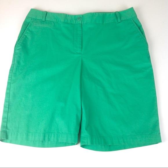 Talbots Pants - Talbots Stretch Bermuda Shorts Green Sz 12
